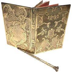 Epoque Napoleon III Antique French Vermeil Carnet de Bal