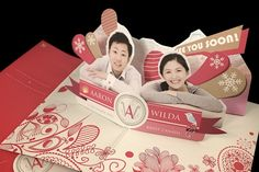Pop-up Wedding Invitation Card by Man Cheng, via Behance