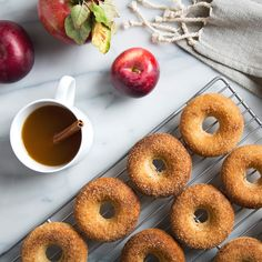 These 10 ingredient baked Vegan Apple Cider Donuts are covered in crunchy cinnamon sugar topping. Quintessentially fall and only 20 minutes to make!