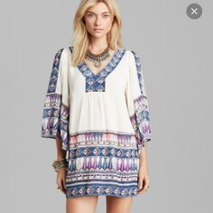 Free people dress Free people dress. Bought off Poshmark but the cream color doesn't look great on me. Super cute and BoHo style. I don't think it's ever been worn. Free People Dresses Mini