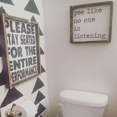 Some more bathroom humor ( my mom will probably roll her eyes when she sees this sign …) #imfunny #reallifeproblems #YouKnowYouRunTheWaterWhenYouGopotty