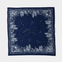 Hand printed in Japan on indigo-dyed cotton, this bandana features custom artwork highlighting one of our most foundational aphorisms. A proper bandana isn't just an accessory, but a practical tool with unlimited applications. Bandana Scarf, Bandana Print, Bandanas, Bandana Design, Scarf Design, Neckerchiefs, Goods And Services, Surface Design, Cool Things To Make