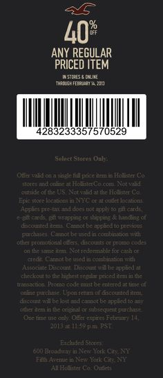 8 Best Hollister Coupon Codes Images Coupon Codes Hollister Coupon