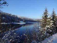 Winter in Oberfranken: Grüße von der Ködeltalsperre