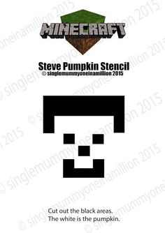 Here is the famous Steve from Minecraft! Steve from Minecraft Pumpkin Stencil Pumpkin Template, Pumpkin Carving Templates, Holidays Halloween, Halloween Diy, Halloween Costumes, Minecraft Pumpkin, Pumpking Carving, Pumpkin Crafts, Pumpkin Ideas