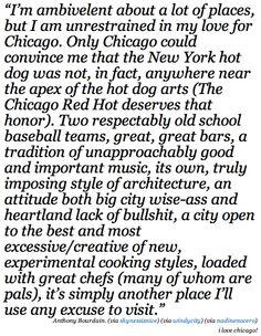 Anthony Bourdain's take on Chicago