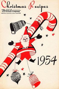 Christmas Recipe Booklet, 1954 + other great vintage Christmas booklet covers.