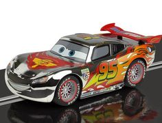 Slot cars, Scalextric Lightening McQueen, C3434, Chrome Edition