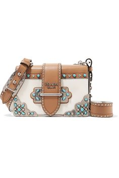060674bef5 White and tan leather (Calf) Tab-fastening front flap Designer color:  Tobacco
