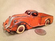 Iron Low Rider Truck Orange by TrashAngelTreasures on Etsy, $125.00
