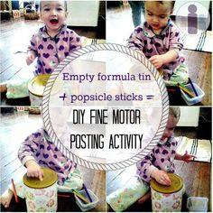 DIY Fine Motor Posting Activity
