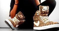 Nike cheetah print shoes