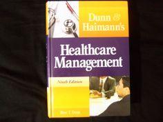 Dunn and Haimann's Healthcare Management (9th ed.) Hardcover (2010) #HealthAdministrationPress #Textbook
