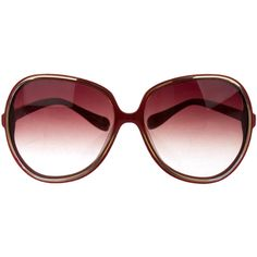 Oliver Peoples Oversize Gradient Sunglasses ($75) ❤ liked on Polyvore featuring accessories, eyewear, sunglasses, red, red glasses, over sized sunglasses, gradient lens sunglasses, gradient sunglasses and gradient glasses