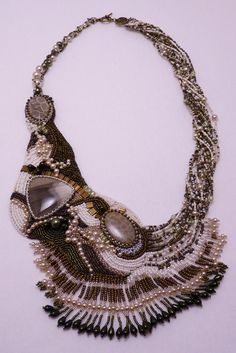 Something old, something new (bead embroidery necklace)