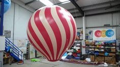 """A lovely testimonial from one of our clients. We created this inflatable hot air balloon the Irish entry to the Eurovision Song Contest.  """"Thought I would just drop you a line and say thank you very very much for all you help and expert advice with the helium balloon. The balloons worked perfectly and the performance looked terrific!  I'm sure we will work together again in the future. Please extend my thanx and appreciation to all your team!  Best wishes Nicoline"""""""