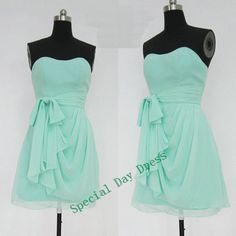 Green short Bridesmaid Dress, cheap Short prom dress, party dress - high fashion