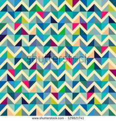Seamless geometric, abstract pattern. Can be used in textiles, for book design, website background. - stock vector