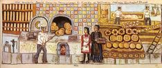 Baker's shop of Georgios Panagiotou Kontoufournari in the capital city of Thessalia Larissa Theofilos Baker Shop, Local Color, Art Articles, Greek Culture, Greek Art, Color Of Life, Illuminated Manuscript, Lovers Art, Archaeology