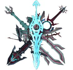 Anime Weapons, Fantasy Weapons, Xenoblade Chronicles Wii, Xeno Series, Best Rpg, Legend Of Zelda, Swords, Techno, Fantasy Art