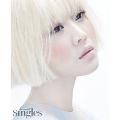 チョ・ボア「Singles」グラビア mintyの韓国イロイロ話 ❤ liked on Polyvore featuring models, faces, backgrounds, image and people
