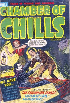 Comic Book Cover For Chamber of Chills Magazine #5