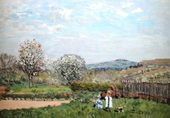 Children playing in the Meadow - Alfred Sisley - www.alfredsisley.org