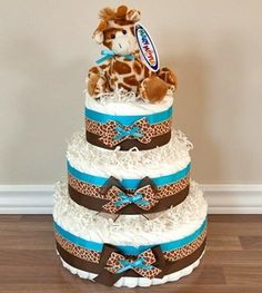 Gadgets just like Giraffe theme diaper cake on Etsy.  Look into more at the photo link