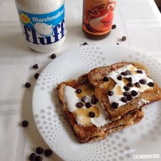 Ripped Recipes - Always Want S'More French Toast - Do you dream of mashmellowy, chocolaty treats? Did you know you can have all that and more??? Make this french toast for a quick treat with more protein than most protein shakes and bars!! (without any protein powder included) What are you waiting for?