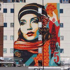 Street Art is really a highly popular form of art that is spreading quickly all … Murals Street Art, Street Art Graffiti, Urban Street Art, Urban Art, Shepard Fairey Art, Graffiti Murals, Amazing Street Art, Chalk Art, Street Artists