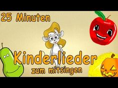 Kinderlieder zum mitsingen mit text deutsch - 25 Minuten Lern-Lieder! - YouTube