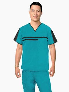 IMG-PRODUCT Scrubs Outfit, Scrubs Uniform, Men In Uniform, Nurse Costume, Medical Scrubs, Scrub Tops, Mens Fashion, Mens Tops, Jackets