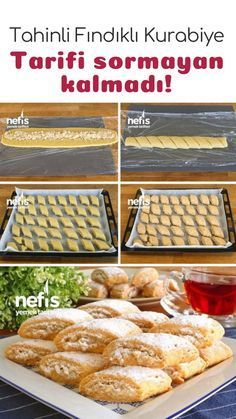 Tahini Hazelnut Cookies - You will eat as you eat! - Delicious Recipes - How to make Tahini Hazelnut Cookies (with video) Recipe? Illustrated explanation of this recipe in - Paleo Casserole Recipes, Paleo Recipes, Paleo Meals, Soup Recipes, Galletas Paleo, How To Make Tahini, Keks Dessert, Hazelnut Cookies, Biscuits