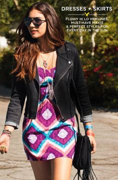 Dress to impress with our coolest dresses at American Eagle Outfitters. Shop an array of cute  casual dresses and skirts. Get a youthful look for the beach and parties.