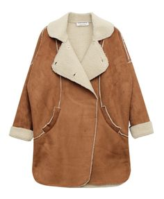 Simple Style Lambswool Lined Fur Coat