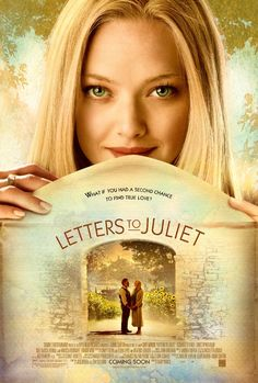 Poster for the movie Letters to Juliet starring Amanda Seyfried. Letters to Juliet movie poster starring Amanda Seyfried. See Movie, Movie List, Movie Tv, Movie Shelf, Song List, Vanessa Redgrave, Juliet Movie, Bon Film, Movie Posters