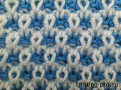 "Pattern ""two-tone thread waste with elongated loop"" - knitting-pro.ru - From the basics to mastery"