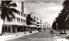 Heart Of Current South Beach Art Deco Area (In 1940's) 12th Street And Ocean Drive