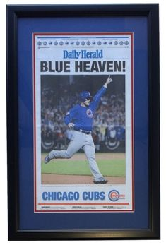 chicago cubs framed 2016 world series champs daily herald blue heaven newspaper