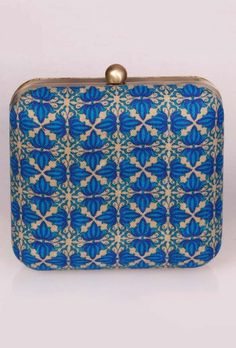Block Printed Box Clutches - #Bags & #Clutches for Every Occasion with Inspirations from Sanganer, Mirzapur, Kutch and Rabari Tribe. Dhurrie Bags, Embroidered Potlis & Clutches, Box Clutches & more. #Handcrafted #Ethnic #Contemporary