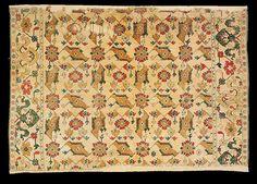 """Ushak Bird"" rug, Ushak-Selendi area, late 16th century, The Biertan Evangelical fortified church (inv 63) illustrated in Stefano Ionescu, Antique Ottoman Rugs in Transylvania"