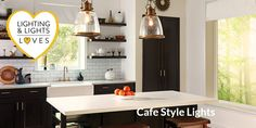 Clever use of the right lights and light fittings will create the perfect atmosphere for visitors to your cafe. Buy from Lighting and Lights Cafe Lighting, Kitchen Lighting, Cafe Style, Hanging Pendants, Light Fittings, Pendant Lights, Counter, Tables, Key
