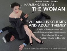 Flier I made for an upcoming villain-themed burlesque show involving my Sherlock cosplay and the talented burlesque performer Harleen Cassidy as Irene Adler https://www.facebook.com/events/444750358988020/?fref=ts