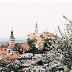 Mikulov Castle, Moravia, Czech Republic.