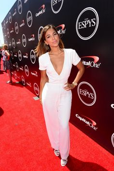 Liz Hernandez on the ESPYS red carpet