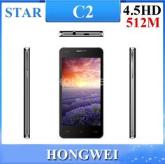 Find More Mobile Phones Information about 2014New arrival !! free shipping ! 4.5inch Star C2 Android 4.2.2 MT6572 Dual Core with 4GB ROM + 512MB RAM Smartphone,High Quality core cost,China core environmental Suppliers, Cheap core 2 duo t9300 from HONGWEI  TECHNOLOGY CO.. LTD. on Aliexpress.com