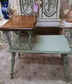 Vintage Telephone Table by MyVintageChicCottage on Etsy, $49.00
