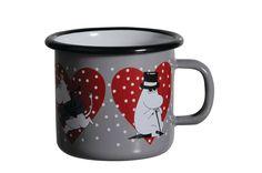 Moomin Enamel Mug Heart Grey 0 25 L Muurla Finland   eBay