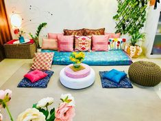 Top 5 Inexpensive Family Room ideas Some pink hues adorning my eclectic floor sitting area stacked with silk satin embroidered n velvet pink cushions . Living Room Seating, My Living Room, Living Room Decor, Indian Room Decor, Ethnic Home Decor, Indian Living Rooms, Colourful Living Room, Home Room Design, Living Room Designs