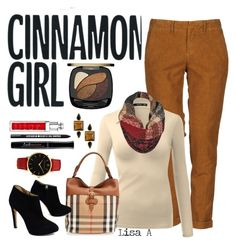 """Cinnamon Spice"" by labond on Polyvore featuring Haikure, Black Rivet, Burberry, Giuseppe Zanotti, Larsson & Jennings, George & Laurel, L'Oréal Paris, Christian Dior, Bare Escentuals and Bourjois"